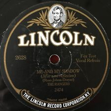 """THE RANGERS """"Me and My Shadow / After We Kiss"""" 78rpm [1926] LINCOLN 2487 VG+"""