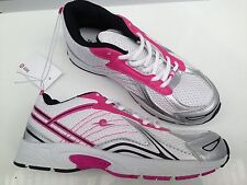 BNWT Older Girls Size 2 Target Lovely Pink White Lace Up Jogger Athletic Shoes