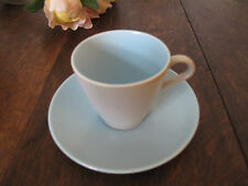 Poole Pottery Cup & Saucer Twintone Ice Green & Seagull Contour Shape