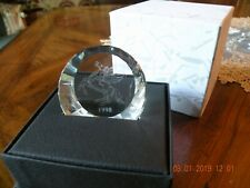 Swarovski Crystal1998 Pegasus Horse Disc Paperweight Retired Brand New in Box