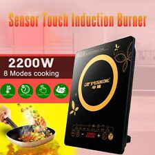 Electric Induction Cooker Sensor Touch Cooktop Burner Temperature Control