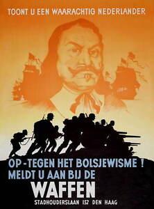 German WW2 Waffen SS Nederlander Poster True Dutchman