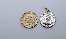 10K white gold Virgin Mary ( Madonna ) medal / pendant