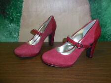 ec5077660ccb ALFANI Croc Embossed Leather RED Mary Jane (3.5 inch) Pumps Heels - 5.5M