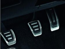GENUINE VW STAINLESS STEEL SPORTS PEDAL CAP COVERS SET - GOLF PASSAT POLO TIGUAN