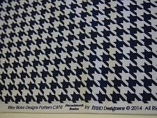 Houndstooth 100%Cotton Navy Blue  Fabric by Riley Blake 54cm X 45cm FQ or More