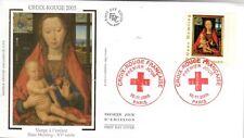 3840+ FDC  ENVELOPPE 1er JOUR SUR SOIE CROIX ROUGE 2005 VIERGE A L' ENFANT