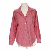 LL Bean Cotton Polyester Womens Pink Striped Long Sleeve Button Down Shirt Small