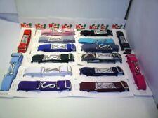 wiz brand multi fit elastic snake belts unisex black red navy green purple pink