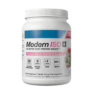Modern ISO+ 100% Whey Protein Isolate, Choose Flavor - Mixes Clear!