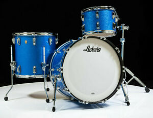 Ludwig Classic Maple Fab 3pc Shell Pack Blue Sparkle