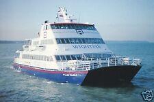 """Two AK, wigtlink Fast Ferry """"Our Lady Pamela"""", Ferry, Catamaran, um 1996"""