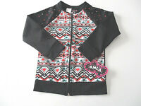 RMLA Athletic Jacket Sz. 5, Girl's Black Aztec Sweatshirt Zip Front NWT