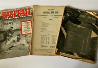 Vtg Street And Smith Baseball Yearbooks 1943, 1944, 1945 No Covers On 44 & 45
