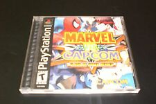 MARVEL VS CAPCOM CLASH OF SUPER HEROES PS1 2000 BLACK LABEL COMPLETE & TESTED