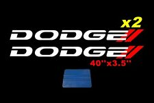 Dodge Ram Hemi Side Bed Decals Charger RT Window Stickers Truck Vinyl Signs x2