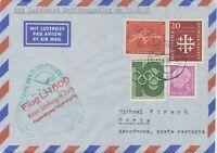 """BUNDESREPUBLIK 1956 Erstflug Deutsche Lufthansa """"HAMBURG – PARIS"""""""