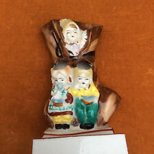 Antique old lady who lives in a shoe toothbrush and toothpaste holder Japan