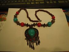 BEAUTIFUL NECKLACE TURQUOISE WITH VARIOUS OTHER STONES