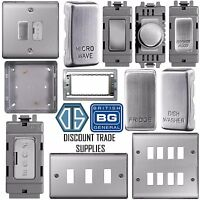 BG Nexus Metal Grid Plate Switch Components Brushed Steel Satin Chrome NBS Range