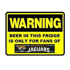 125 Beer Fridge Jacksonville Jaguars NFL Football Warning Refrigerator Magnet
