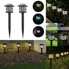 Solar LED Landscape Walkway Lights Garden Light Plug-in Lawn Lamps Outdoor