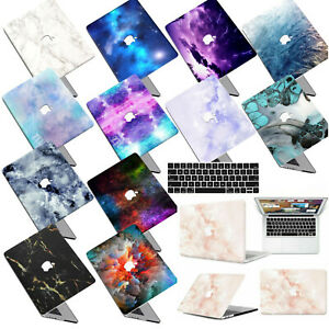 """Marble Skin Pattern Rubberized Hard Case Key Cover For New Macbook Pro Air 13"""""""