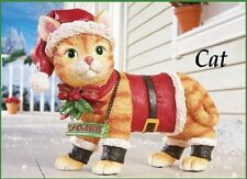 "Motion Sensor Meowing Kitty Cat ""Welcome"" Christmas Yard Statue"