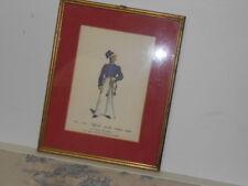 Vtg. Italian Military Museum 1814-1842 Ufficiale Piccola Montura EsFramed Print2