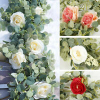 6FT Artificial Flowers Plants Wedding Fake Ivy Vine Eucalyptus Garland PARTY