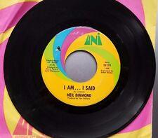 """NEIL DIAMOND """"I AM...I SAID / DONE TOO SOON""""  UNI USA 7"""" 1962"""