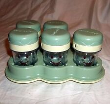 Baby Bullet Magic Bullet Lot of 5 Storage Cups Date Dial Storage Batch Tray