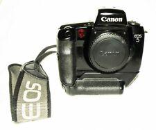 Excellent  CANON  EOS 5  35mm SLR Film Camera Body  W VG-10  BUNDLE