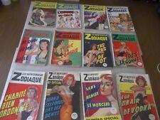 Gaston Martin, Les Aventures de Zodiaque: lot de 12 éditions originales (sauf 1)