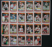 1990-91 O-Pee-Chee New Jersey Devils Team Set of 23 Hockey Cards