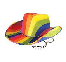carnaval arc-en-ciel pour adulte cow-boy chapeau Lgbt # Accessoire déguisement