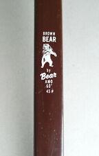 "Vintage Brown Bear Amo 60"" fiberglass recurve bow 45# lbs archery Grayling MI"