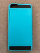 Apple iPhone 6 Plus Case, Card Holder, Blue and Black
