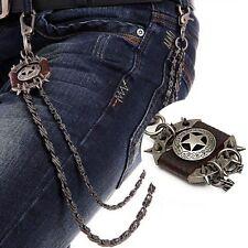 Pantalon Porte Clé monnaie Chaîne Biker Collier portefeuille Motocycle Jean