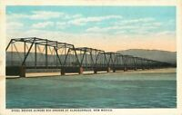 Albuquerque New Mexico Steel Bridge Rio Grande 1920s Postcard Teich Route 66