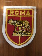 Patch toppa CM8X6 scudetto in stoffa ricamato CALCIO ROMA (La Lupa)