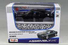 Maisto 1:24 DODGE Challenger SRT8 Assembly DIY Racing Car Diecast MODEL KITS