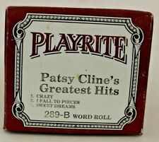 More details for play-rite long play pianola word roll: patsy cline's greatest hits