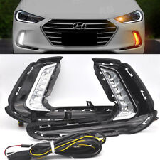 2x White LED DRL Daytime Running Light Day Fog Lamp For Hyundai Elantra 16-2018