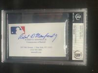 Rob Manfred Autograph Signed Business Card MLB Commissioner Beckett Slabbed