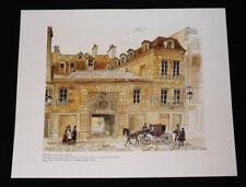 Illustration de Alain Bailhache : Hôtel Montescot, à Paris, côté rue