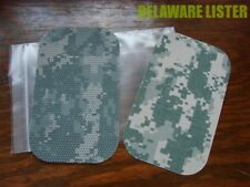 *ACU MILITARY DIGITAL CAMO CORDURA 500D FABRIC REPAIR KIT NO-IRON PATCH SET of 2