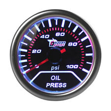"Universal 2"" 52mm  Oil Press Pressure Gauge Pointer Car Smoke Len LED PSI Meter"