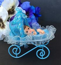 1PCS Baby Shower Favors Party Decoration Its A Baby Boy Blue Carriage Keepsake