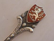 New listing Vintage 1932 Silver Souvenir Spoon - Enamel Terminal -Suomi Finland